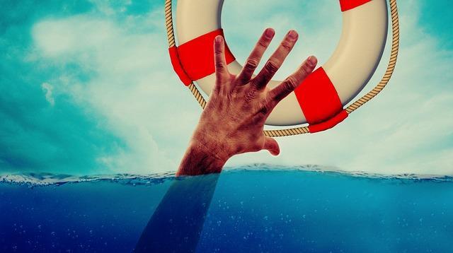 Lifebelt Hand Lake Drowning Water