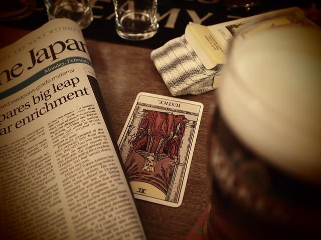 Tarot Cards Newspaper Irish Pub