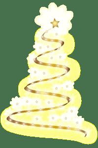 рождественское дерево блестит