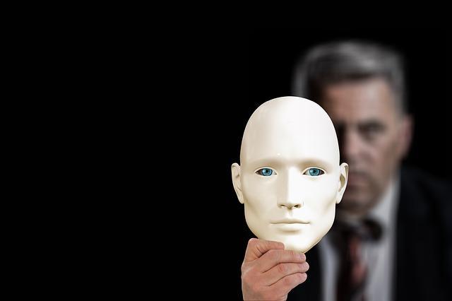 бизнесмен и маска