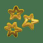 золотые рождественские звезды