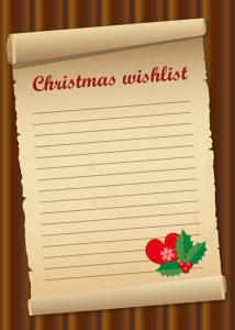 лист новогодних желаний