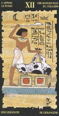 повешенный египетское таро