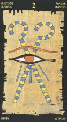 египетское таро 2 жезлов
