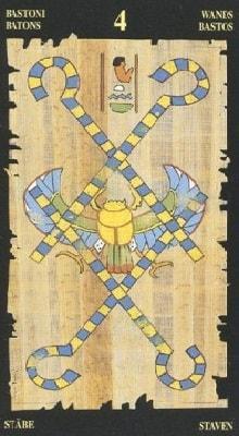 египетское таро 4 жезлов